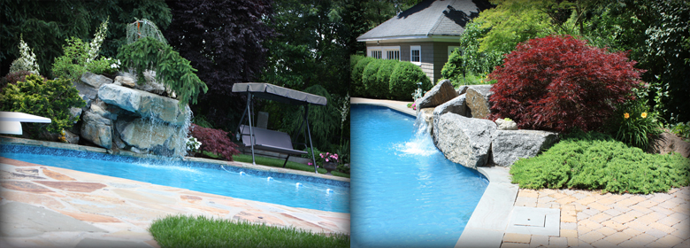 Pool surrounds by denny wiggers for Garden pool surrounds